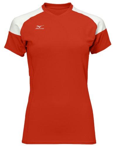 Mizuno Techno Volley II Damen Volleyball-Trikot, Damen, Cardinal-White, Large