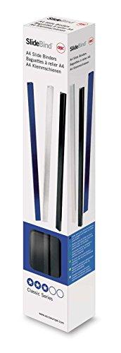 GBC 46010E Einschub-Binderücken, 10 mm, 25 Stück, schwarz