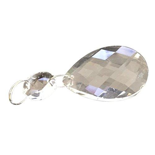 Ciondolo in cristallo su-luoyu parti 10 pz trasparente cristallo di vetro lampadario prismi ciondoli perline parti appesi gocce pendenti con finiture in octagon bead per matrimoni camerette lampadari