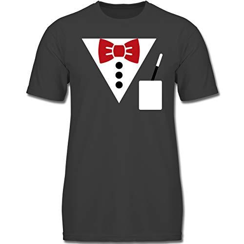 Magier Verrückte Kostüm - Karneval & Fasching Kinder - Magier Kostüm - 104 (3-4 Jahre) - Anthrazit - F130K - Jungen Kinder T-Shirt