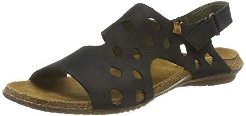 El Naturalista S.A N5061 Pleasant Wakataua - sandali open toe Donna, Nero (Black), 39 EU