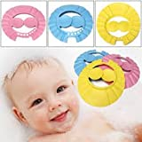 Baby Infant Child Eye safty Toddler Tearless Shampoo Shield Shower Hair Cap