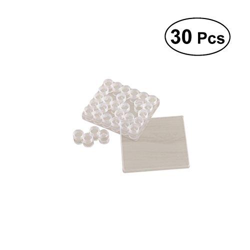 ULTNICE 30 pcs Effacer Conteneur De Stockage En Plastique Ensemble Perles Boîtes De Rangement Organiseurs Bouteilles Transparentes