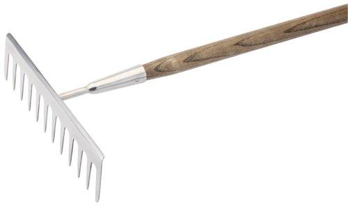 Draper Expert 44971 - Fourche en Acier Inoxydable avec Manche en frêne certifié FSC Rateau de Jardinage