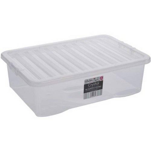 32L Lit tiroir Boîte de Rangement en Plastique Transparent