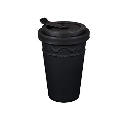 KPM Berlin KURLAND to-go Becher, Handmade, Porzellan, das umweltfreundliche Stil-Statement für Kaffee oder Tee, in Geschenkverpackung, Schwarz -