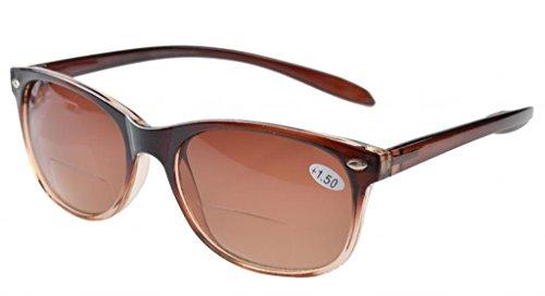 Eyekepper Lange Arme Bifocal Sonnenbrillen Braun Linse +1.00