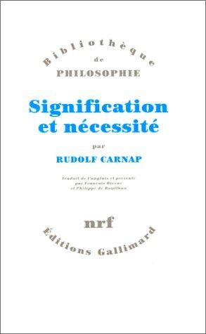 Signification et nécessité