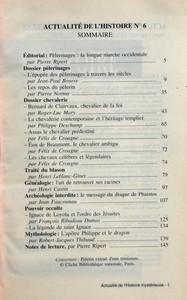 HISTOIRE MYSTERIEUSE (L') N? 6 du 01-06-1994 PELERINS LA LONGUE MARCHE - L'ENIGME BERNARD DE CLAIRVAUX - TRAITE DU BLASON - LE MESSAGE DU DISQUE DE PHAISTOS - JESUITES LA PUISSANCE ET LES SECRETS - EDITORIAL PELERINAGES LA LONGUE MARCHE OCCIDENTALE PAR PIERRE RIPERT - DOSSIER PELERINAGES - L'EPOPEE DES PELERINAGES A TRAVERS LES SIECLES PAR JEAN-PAUL BOURRE - LES REPOS DU PELERIN PAR PIERRE NORMA - DOSSIER CHEVALERIE - BERNARD DE CLAIRVAUX CHEVALIER DE LA FOI PAR ROGER-LUC MARY - LA