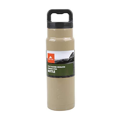 Ozark Trail Olympia Tools International, Inc Vakuumisolierte Edelstahl-Wasserflasche, 680 ml, Hellbraun (Trail-tools)