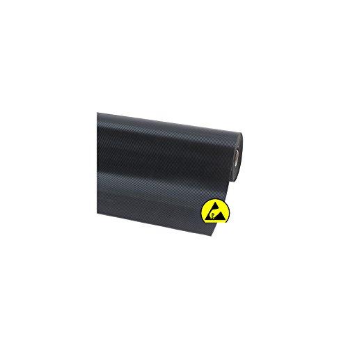 Notrax Naturgummimatte, ESD - LxB 1500 x 1200 mm - schwarz - Arbeitsplatzmatte Arbeitsplatzmatten Bodenbelag Bodenmatte Gummimatte Sicherheitsmatte -