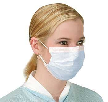 10 x Flu Surgical Face Masks with earloops Antirus and Pollution Protection