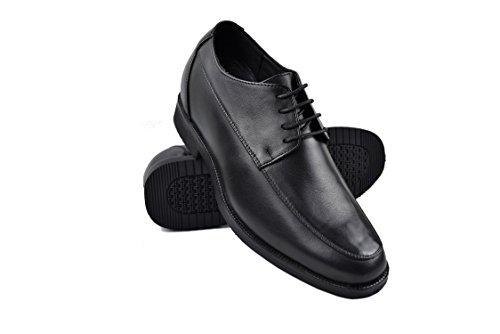 ZERIMAR Zapatos con Alzas Interiores para Hombres Aumento 7 cm | Zapatos de Hombre con Alzas Que Aumentan Su Altura | Color Negro Talla 40