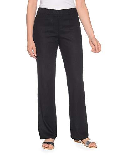 Bexleys by Adler Mode Damen Hose aus Leinenmischung in Schlupfform - Jeans, Stoffhose, Bermuda, Cargohose - auch in Kurzgrößen erhältlich Schwarz 42 -