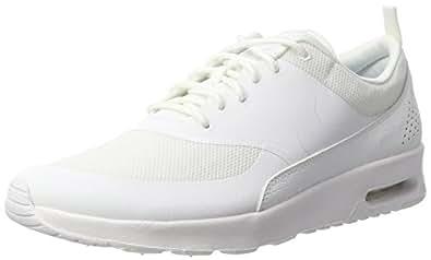 Nike Air Max Thea, Chaussons Sneaker Femme, Blanc (White/White 101), 36.5