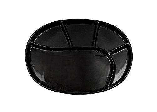 Fondueteller Vroni Keramik schwarz