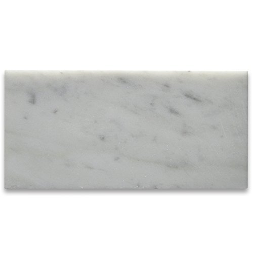Carrara White Italian Carrera Marble Subway Tile 3 x 6 Honed by Marble 'n things