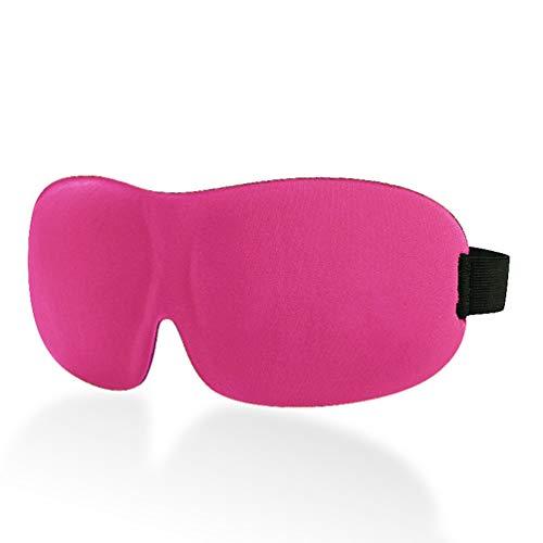 Vogu'SaNa Augenmaske zum Schlafen, Wiederverwendbare 3D Stereo Atmungsaktivierung Müdigkeit Abnehmen Augenschutz für Reisen, Schichtarbeit, Meditation - Rose Rot