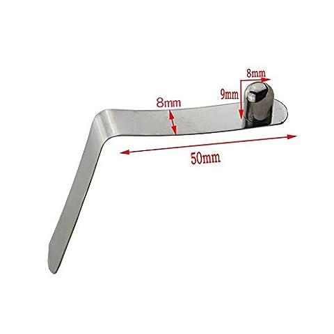 50/Lot 8mm Pagaie pour kayak Tente Pôle massif Bouton de verrouillage à ressort Clips Tube Simple broches