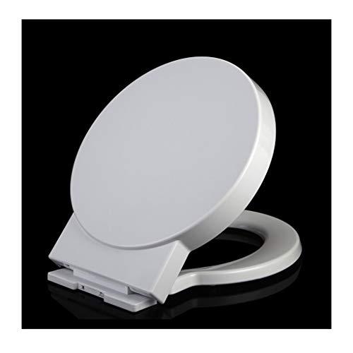 Toilettensitz WC-Sitz PP-Material, Kunststoffhalterung Verdickung und Abstieg (Size : A)