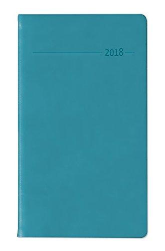Slimtimer Touch türkis 2018 - Taschenplaner / Taschenkalender (9,5 x 16) - seperates Adressheft - Weekly - 128 Seiten