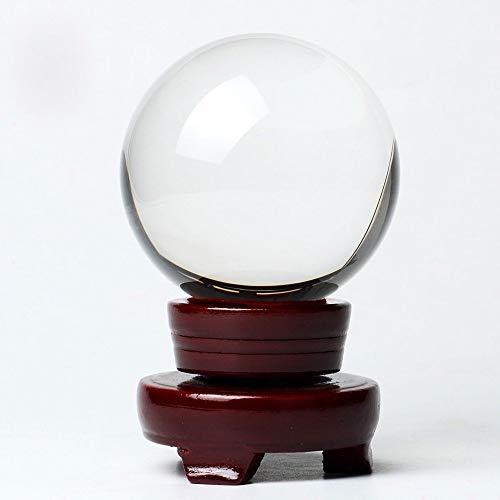 BTSKY bola de cristal clara con soporte de madera para fotografía o exposición, 80 mm