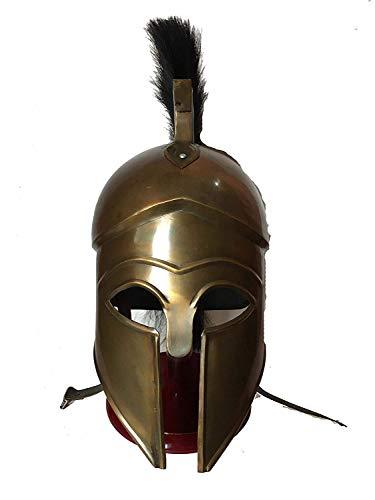 Decor&Style Antique Medieval Greek Spartan Corinthian Helmet with Black Plume Armour Helmet -