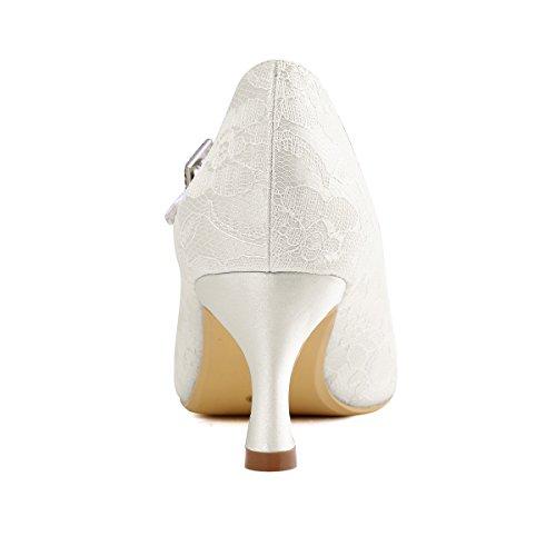 Elegantpark // Brautschuhe Stiletto // Runde Geschlossene (Ivory oder Weiß) - 5