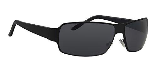Sonnenbrille LA327F2 Herren Brillen Fassung matt schwarz, Linse grau