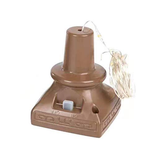 fasloyu Cork Shaped LED Nachtlicht Starry, Waterproof IP65 Light Weinflaschenlampe Für Haus Küche Weihnachtsfest Hochzeit Dekoration Beleuchtung (Gelb) Strip Light Softbox