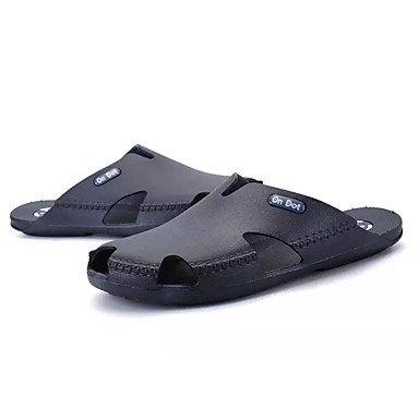 Athletic Shoes Primavera Autunno Coppia Scarpe da uomo Tulle casuale Tallone piano Lace-up Nero / Blu Nero sandali US8 / EU40 / UK7 / CN41