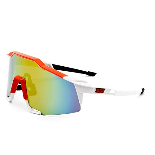 Xsya Radfahren Laufen Fahren Polarisierte Sport-Sonnenbrille Herren & Damen Outdoor Radbrille - Auch für Tag und Nacht Fahren Laufen Skifahren Angeln Segeln Golf,T02