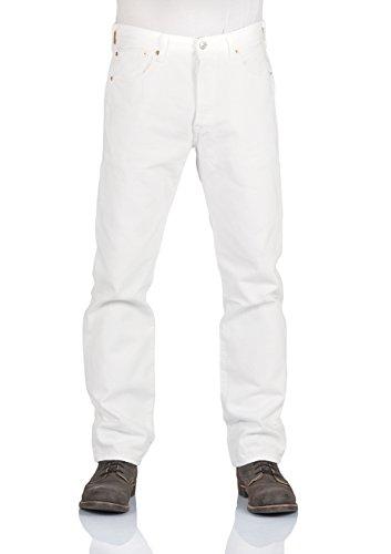 Levis® Herren Jeans 501® - Original Fit - Weiß - Optic White, Größe:W 33 L 32, Farbe:Optic White (0651) (Jeans Levis Tab)