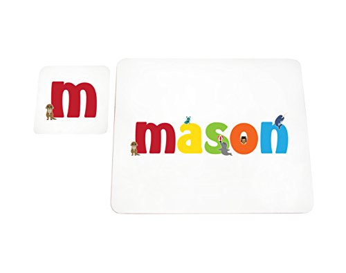Feel Good Art High Gloss Placemat and Coaster for Babies/Toddlers (Mason)