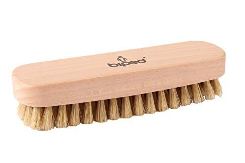 biped Buchenholz Schuhbürste mit Naturborsten - für die Reinigung oder Politur z2345(hell)