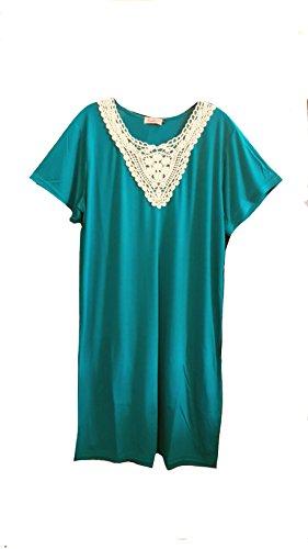 Fionalissa - Chemise de nuit - Femme Turquoise