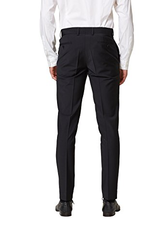 ESPRIT Collection Herren Anzughose Schwarz (Black 001)