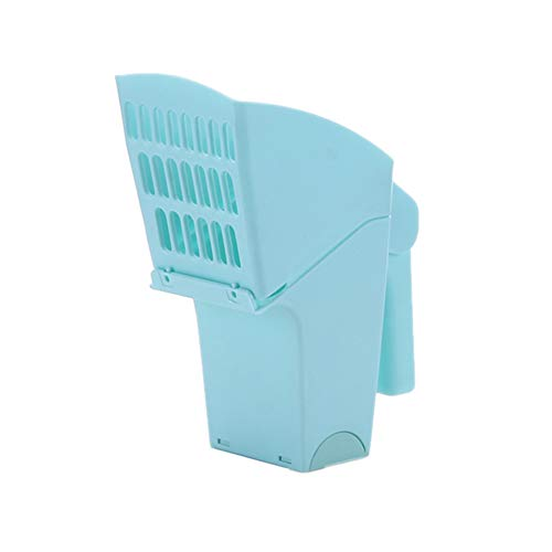euschaufel, selbstreinigende Mülltonne, Katzenklo, Schaufel, Kunststoff, Haustier Reinigungswerkzeug blau ()