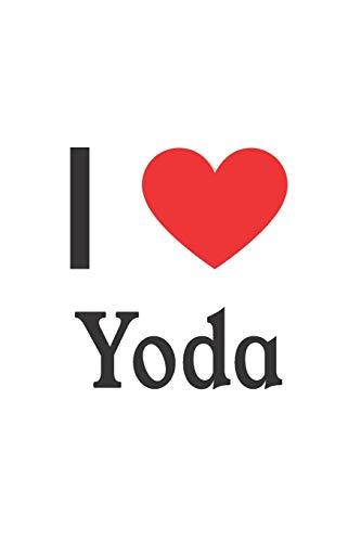 I Love Yoda: Yoda Designer Notebook (Supplies Party Yoda)