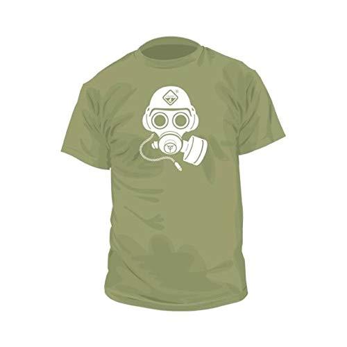 Hazard 4 Herren 's Special Forces Gas Mask Graphic Tee T-Shirt, Herren, OD Green -