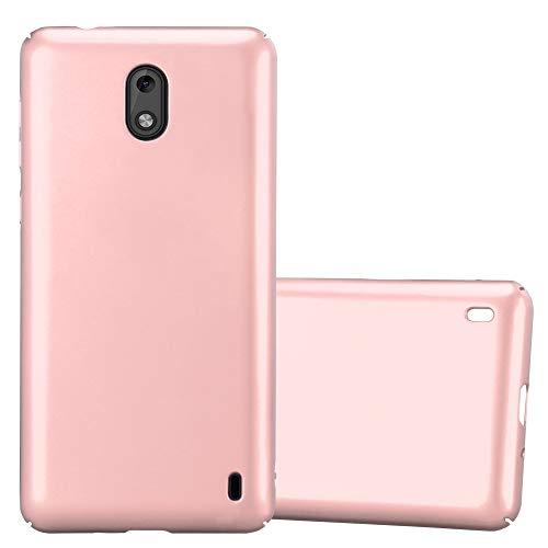 Cadorabo Custodia per Nokia 2 2017 in Oro Rosa Metallo - Rigida Cover Protettiva Sottile con Bordo Protezione - Back Hard Case Ultra Slim Bumper Antiurto Guscio Plastica