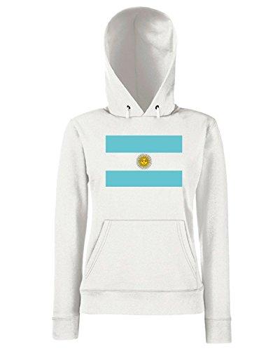 T-Shirtshock - Sweats a capuche Femme TM0159 Argentina flag Blanc