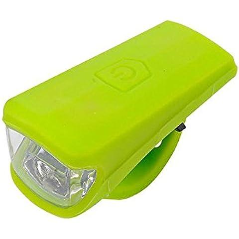 Luz delantera de bicicleta bicicleta USB led seguridad gel de sílice luz recargable para ciclismo equitación -