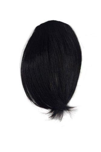Clip-In Pony, Farbton: Dunkelbraun Farbcode: 4, 17 cm/ 7 inch, Haarteil, Haarverlängerung, Extension, fringe, YZF-1088HT-4