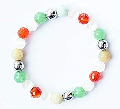 Bracelet grossesse, Pierre de lune, cornaline rouge,