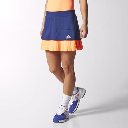 adidas All Premium Damen ClimaCool Tennis Skort Gr. Small, marineblau/orange -