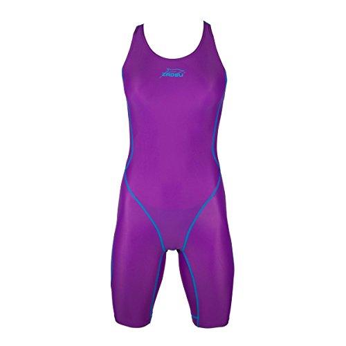 ZAOSU Wettkampf-Schwimmanzug Z-Purple für Mädchen und Damen, Größe:176/36