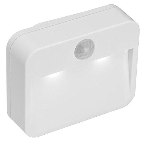 Nachtlicht mit Bewegungsmelder und Helligkeitssensor Bewegungslicht Nachtleuchte LED Batterien inklusive (3-licht-bewegungs-sensor-licht)