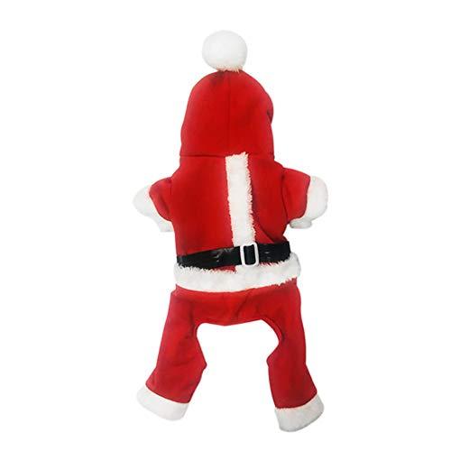 Baby Rock Pudel Kostüm - Laile Kapuzen-Hundemantel Weihnachten Snowman Hundepullover mit Kapuze Festival Fasching Kostüme Haustier Kleidung eleganten Fell Winter Overcoat klein Hund Katze Kleidung Hundejacke