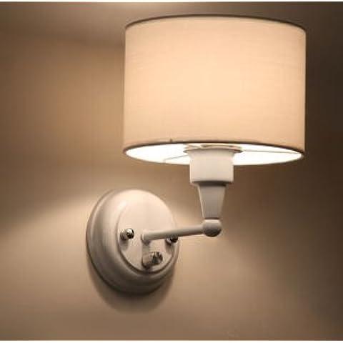 GS~LY Posto letto Lampada led lampada da parete i tessuti moderni luce corridoio balcone camera da letto minimalista lampade creative C